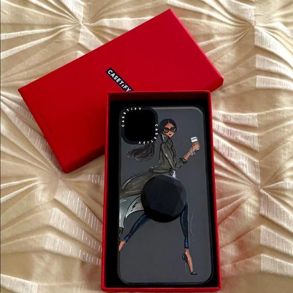 Casetify IPhone11 ProMax impact case w/pop socket